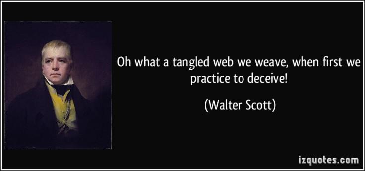 Tangled web - walter scott