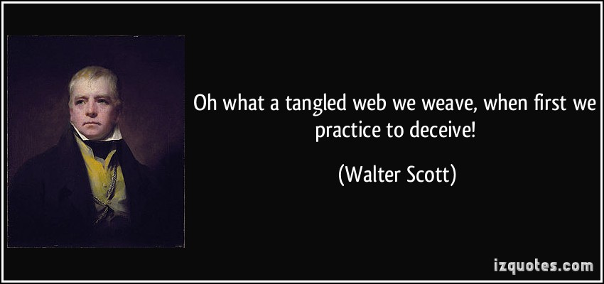 Tangled web - walter scott