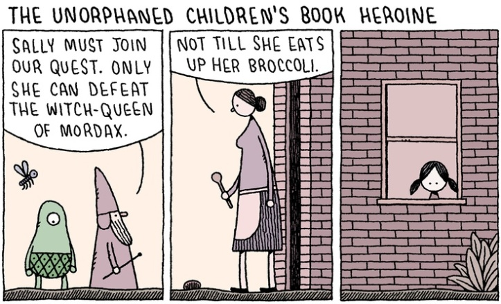 The unorphaned children's book heroine - tom gauld