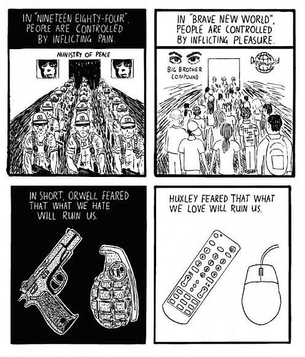 Huxley vs Orwell - Stuart McMillen 2