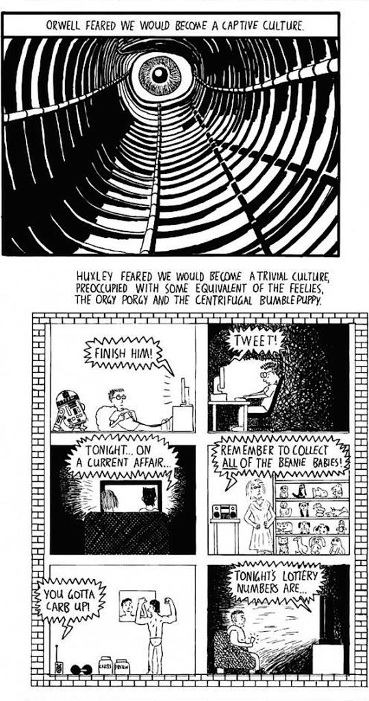Huxley vs Orwell - Stuart McMillen