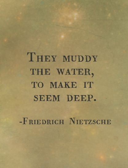 muddied water