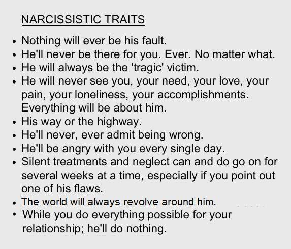 narcissistic traits