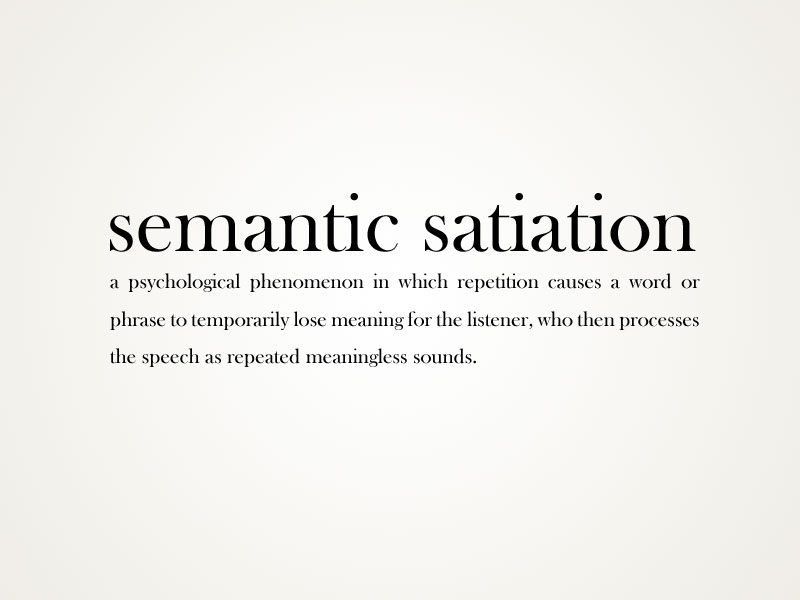 semantic-satiation