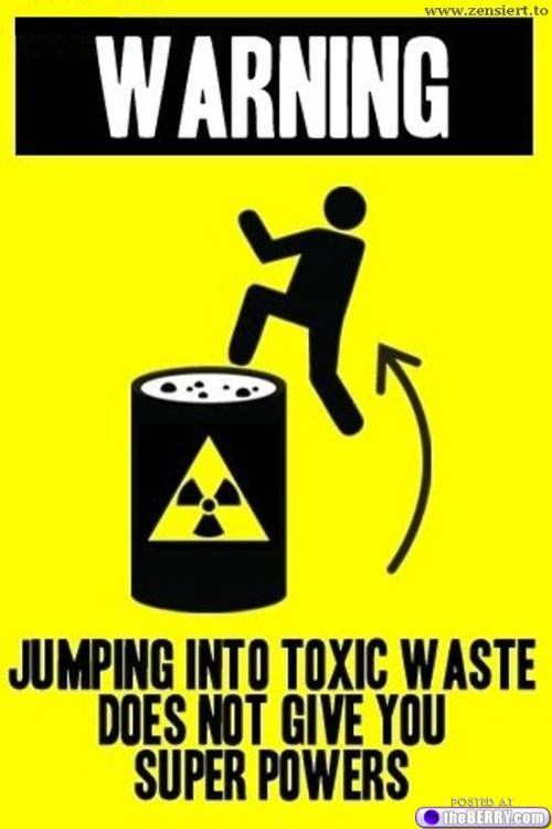 toxic waste warning
