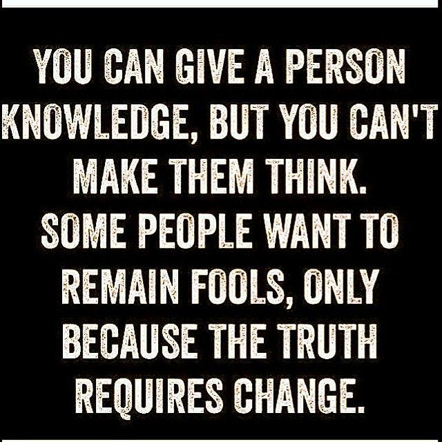 Foolish knowledge