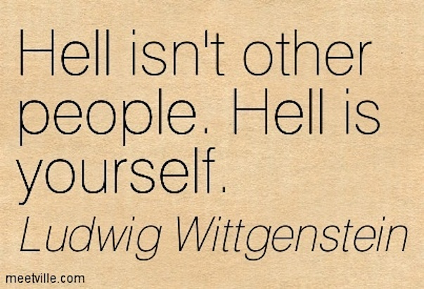 Ludwig-Wittgenstein-hell is yourself