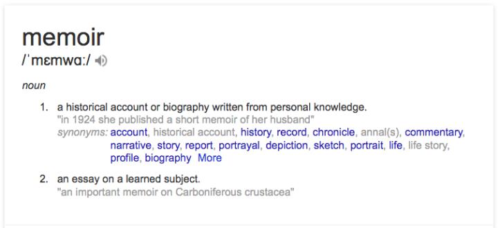 memoir definition