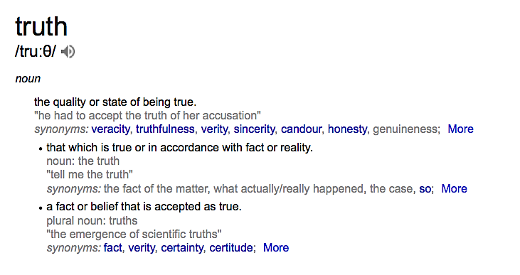 Truth definition