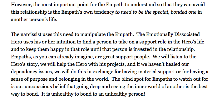 Empath and narcissist - ELaine La Joie