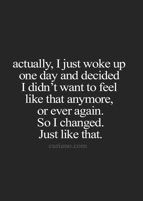 one day I changed - curiano