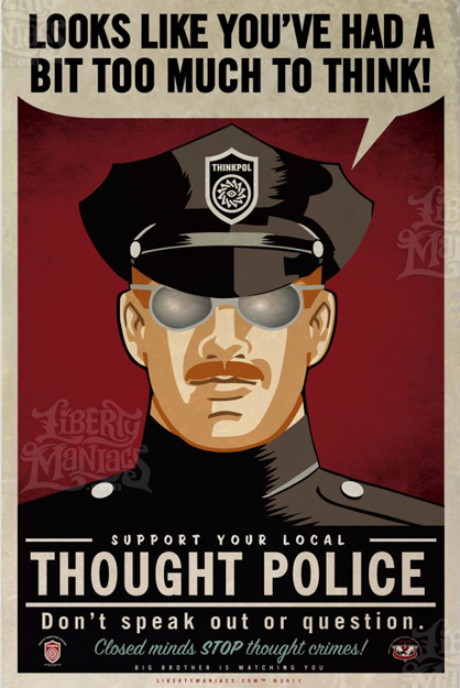 Orwell - thought police
