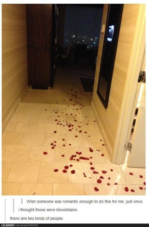 romantic bloodstains