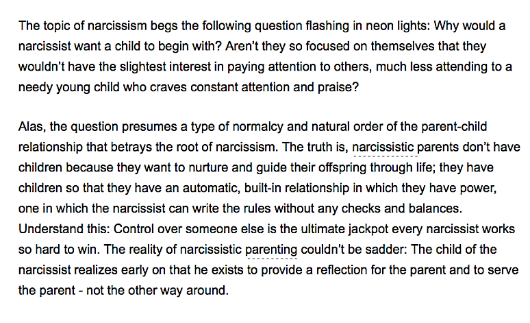 Why narcissists have children - seth meyers