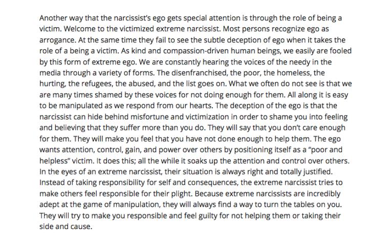 Narcissists who cry - Samuel Lopez De Victoria