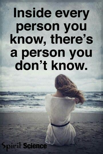 a person you know and don't know