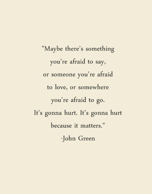 because it matters - john green