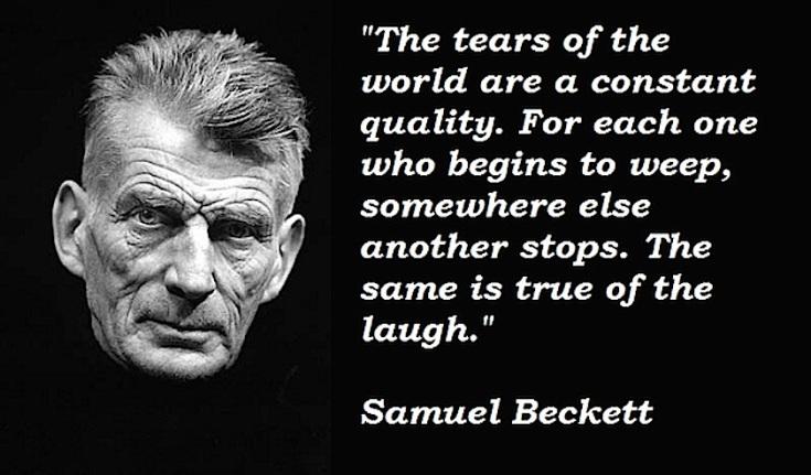 Samuel-Beckett tears and laughs