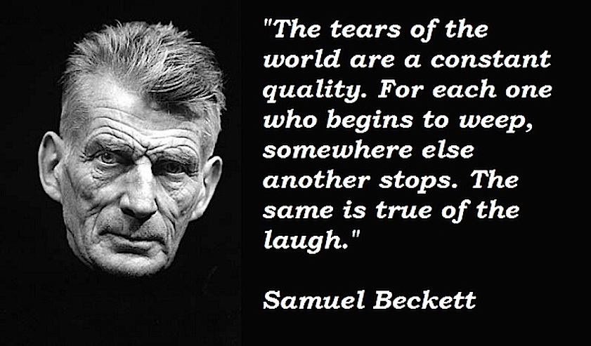 Samuel-Beckett tears and laughs