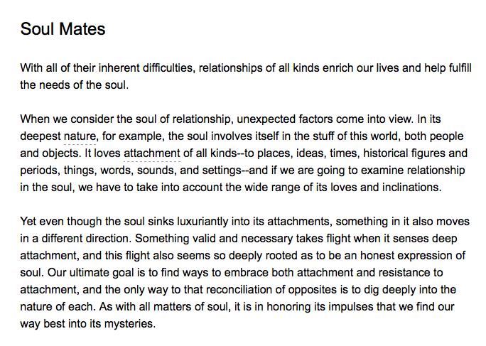 Soul Mates - Thomas Moore