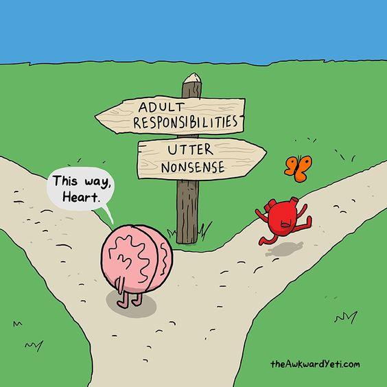 Awkward Yeti - heart versus brain