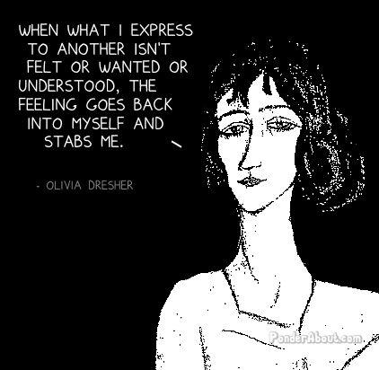 olivia dresher - stabbing yourself
