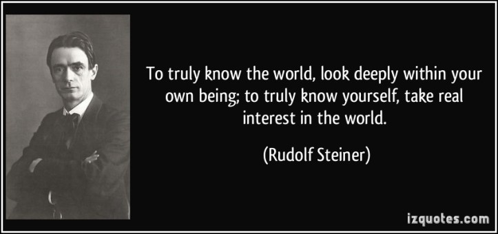 rudolf steiner - know yourself:the world