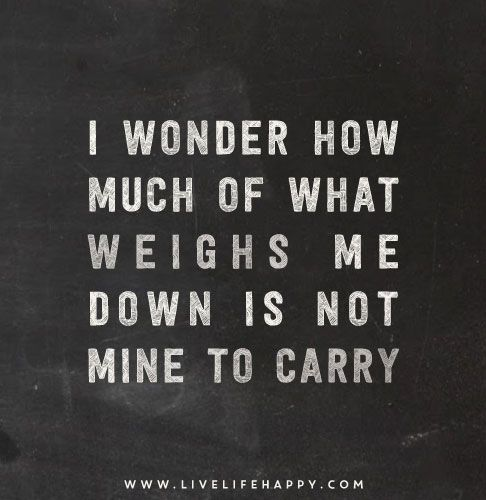 what we carry and how much it weighs