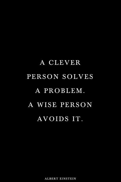 Albert Einstein being wise?