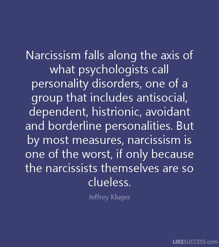 How do you treat narcissim?