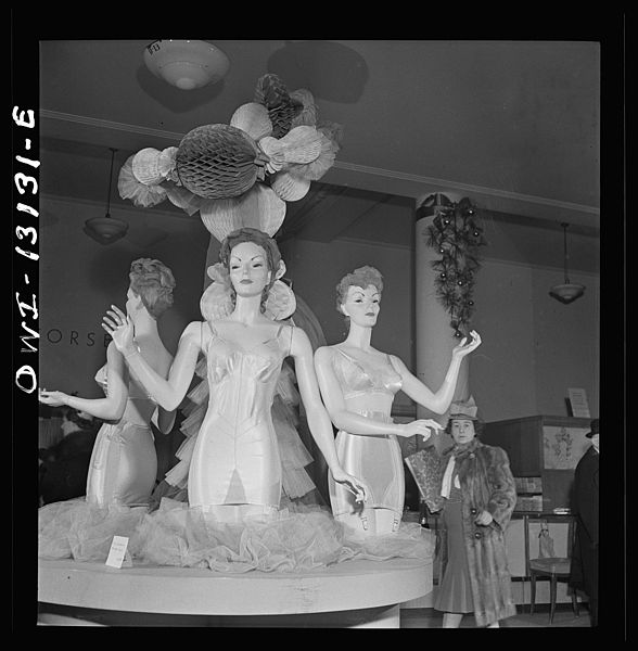 Macy's Display for corsets