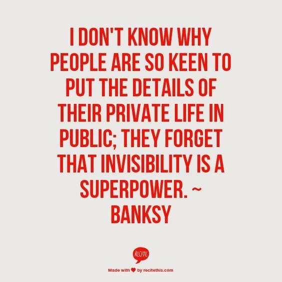 invisibility - Banksy