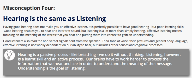 Misconceptions of Listening #4