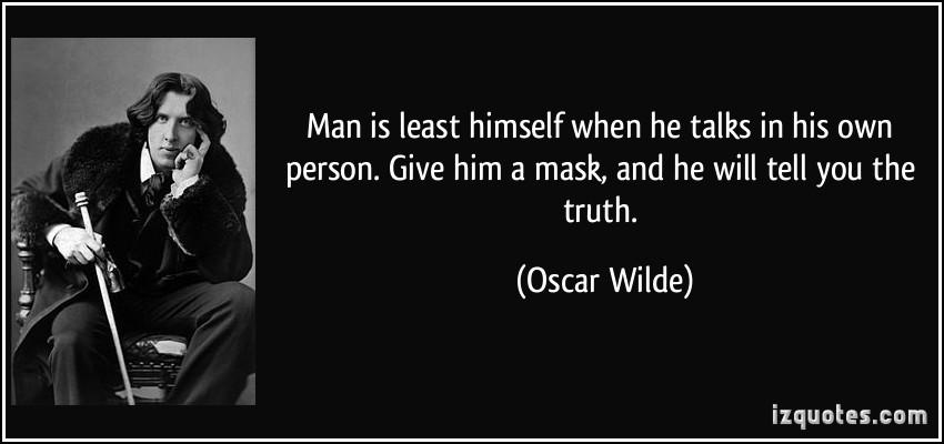 oscar wilde - mask