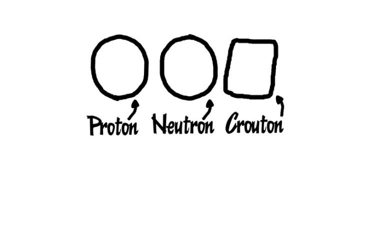 proton neutron crouton