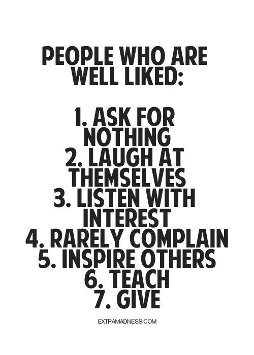 well liked traits