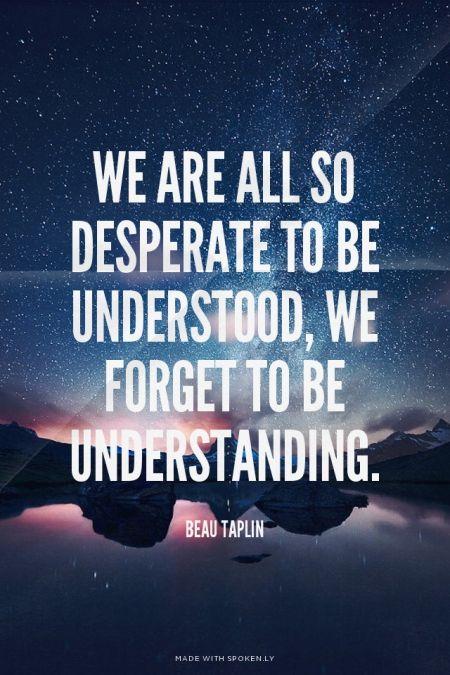 understanding