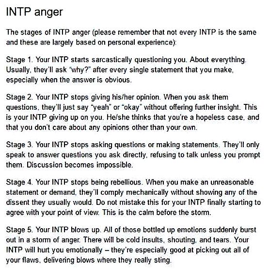 INTP Anger