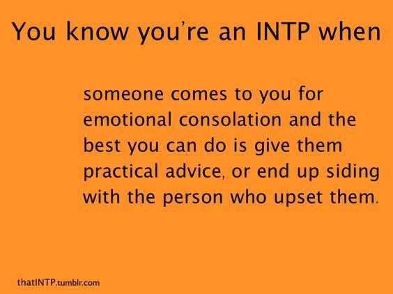INTP & emotional consolation