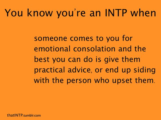 INTP & emotional consolation