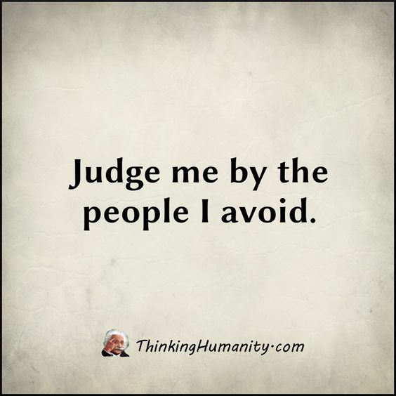 judge me by yourself