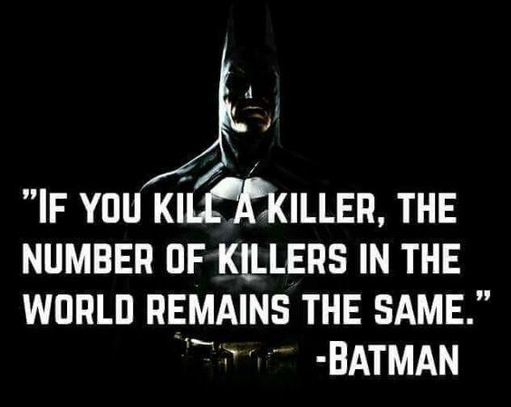 killing a killer - batman