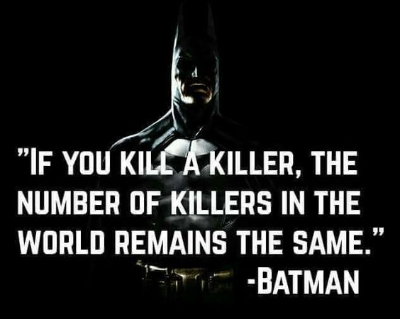 killing a killer - batman