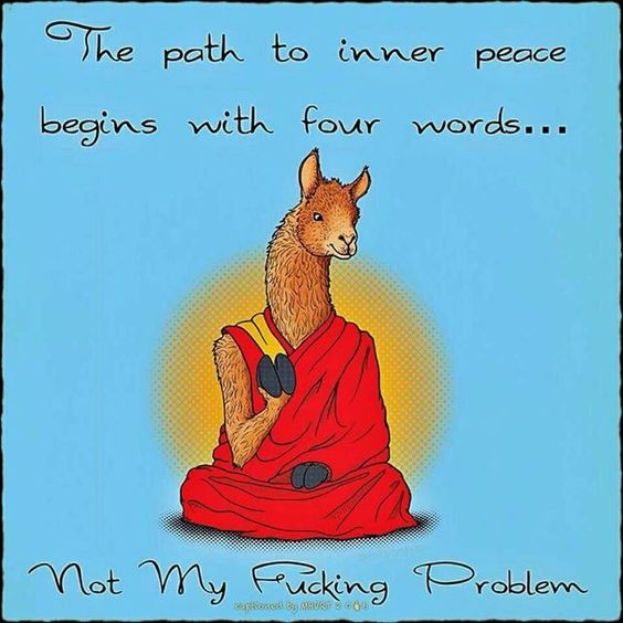 not your problem path to peace