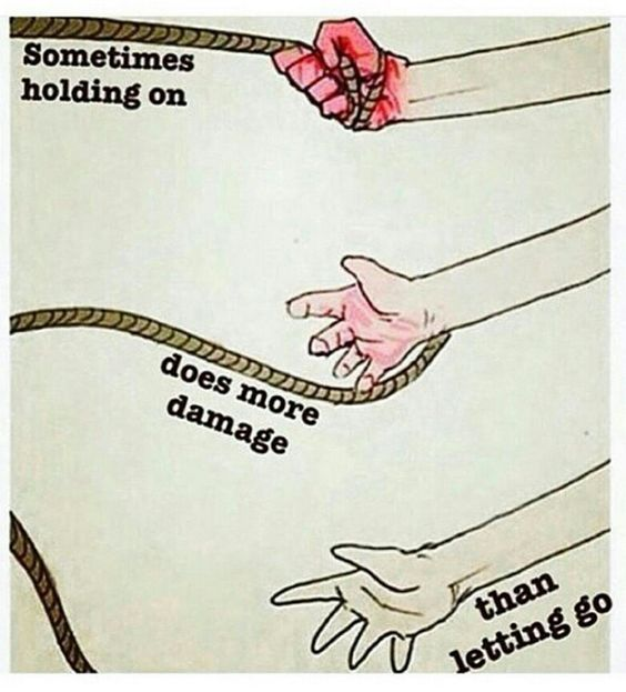 holding on:letting go
