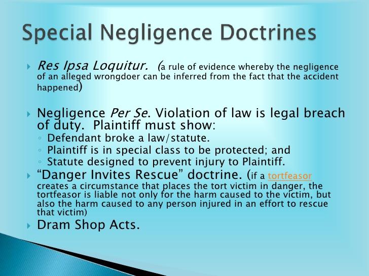 special-negligence-doctrine