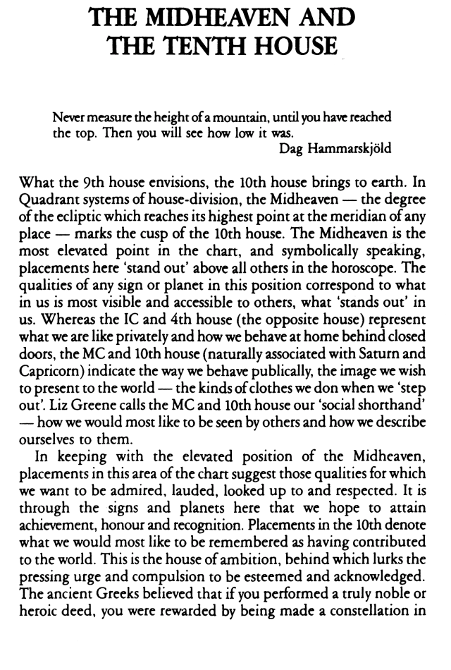The Midheaven and 10th House: What You Want to Be and Who They Think