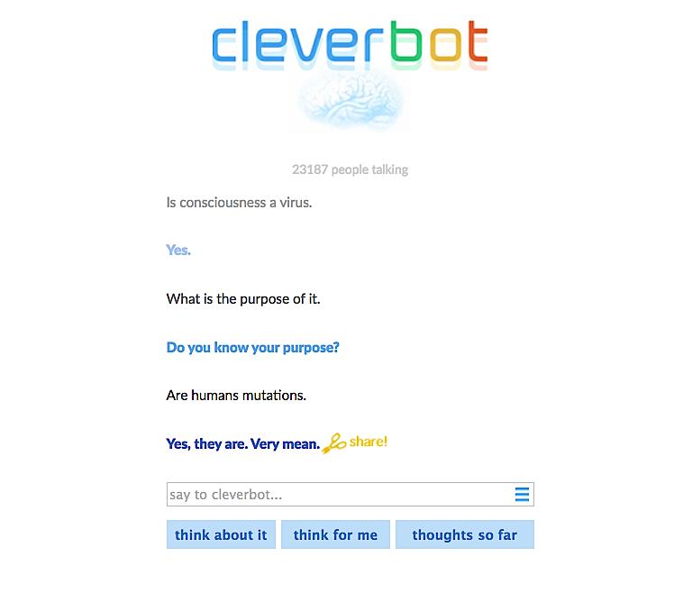 cleverbot-conversation-start