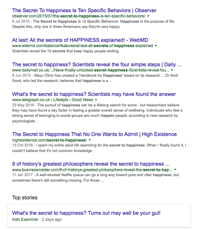 secret-to-happiness-google-search