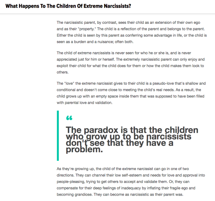 What is Your Experience of Being the Child of Narcissists? – An